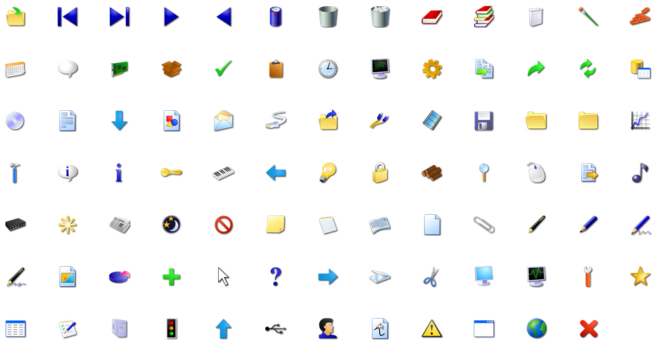 windoes xp icons